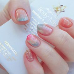 nail art ideas | #marble | for spring | acrylic | gel polish | easy | summer | glitter | manicure | awesome