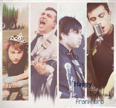 10/31/12 - Happy 31st Birthday Frank Iero And of course, one of the Mcr members' birthdays had to be on Halloween x3