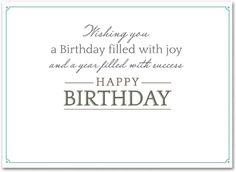 Company birthday postcards
