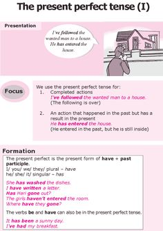 Grade 8 Grammar Lesson 4 The present perfect tense (I)