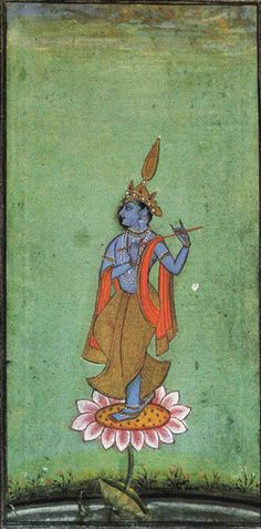 Shri Krishna as Venugopal, the divine flute player