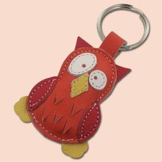 The modern West generally associates owls with wisdom. This link goes back at least as far as Ancient Greece, where Athens, noted for art and scholarship, and Athena, Athens' patron goddess and the goddess of wisdom, had the owl as a symbol.  [source: Wikipedia].    This cute little owl keychain is completely made of 100% natural leather. Keychain is filled with cotton wool to get 3D look and soft touch. Dimensions of the owl are 4,5 x 6,5 cm (1.77 x 2.56 in).