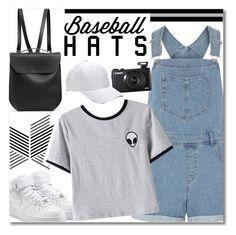 """Top Hat: Baseball Cap Style"" by kawaiinne ❤ liked on Polyvore featuring Dorothy Perkins, GRETCHEN, NIKE, Chicnova Fashion, baseballcap and baseballhats"