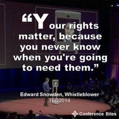Edward Snowden at #TED2014