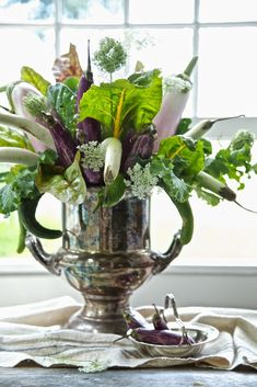 Karin Lidbeck: A New Twist On Your Summer Bouquet. Vegetables as flowers.