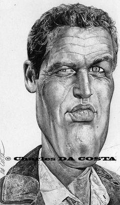 [ Paul Newman ]  - artist: Charles Da Costa - website: http://chadacosta44.blogspot.com