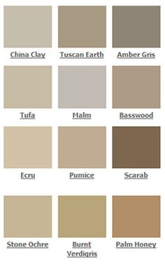 paint color palette - Google Search