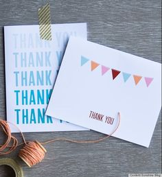 Loads of free printable thank you cards