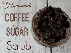 Homemade Coffee Sugar Scrub #DIY #Beauty