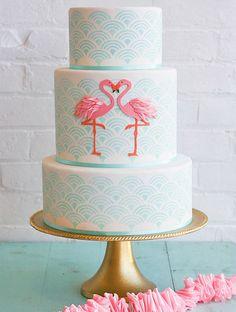 DIY Amazing Flamingo Cake