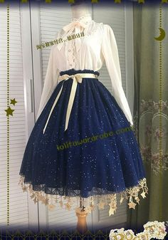 Boguta -Starry Night- Sweet Lolita Skirt Under Skirt Version I (round 3 preorder leftovers) Cosplay Outfits, Dress Outfits, Fashion Dresses, Scene Outfits, Pretty Outfits, Pretty Dresses, Beautiful Dresses, Kawaii Dress, Kawaii Clothes