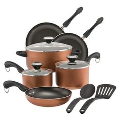 Recommended Paula Deen Dishwasher Safe Nonstick Cookware Set, 11-Piece, Copper $80