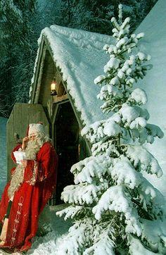 Santa checking his list.