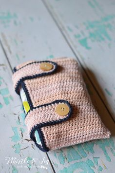 Crochet Diaper Pouch by Whistle and Ivy
