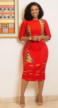 Elegant kente styles are styles to choose when you think about the style to sew for your kente. Find elegant kente styles on african fashion and lifestyles Ankara Short Gown Styles, Trendy Ankara Styles, Kente Styles, Ankara Gowns, Short Dresses, African Lace Styles, Ankara Skirt, Dress Styles, Latest African Fashion Dresses