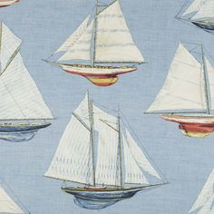Nautical Sailboat Fabric, has a very cape cod beach cottage feel