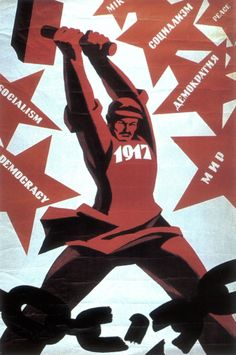 A Soviet constructivism poster by Benjamin Briskim. It isn't very hard to pinpoint the color palette of constructivist art, which feels a little limiting and creatively uninspiring to me. Bauhaus, Grafic Art, Russian Constructivism, Propaganda Art, Socialist Realism, Political Posters, Soviet Art, Ligne Claire, Poster Ads