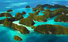 Palau Archipelago, Micronesia//Boasting some of the clearest water and beautiful…