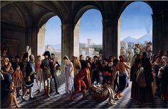Murat visiting the Albergo dei poveri in Neaples. by Schmidt Heinrich (1740 - 1821).