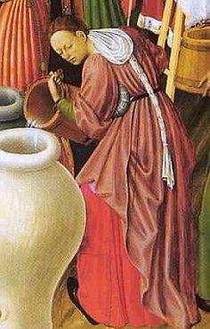 """""""1445-1452 Bernat Martorell, Altar of the Transfiguartion -3"""""" Hair wrap with top of veil fallen back."