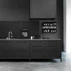 Black kitchen inspo via @vipp #kitchen #urbancouturedesign by urban_couture_design
