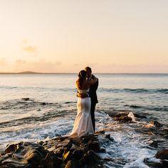 Stunning Noosa Beach Wedding Got Married, Getting Married, Lakeside Garden, Most Beautiful, Scenery, Wedding Dresses, Beach, Instagram, Bride Dresses