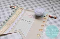 Today, Be Happy banner - Delineate Your Dwelling Craft Tutorials, Craft Projects, Craft Ideas, Paper Crafts, Diy Crafts, Paper Art, Crafty Kids, Easy Gifts, Craft Gifts