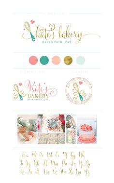 Whisk Bakery Logo Branding Kit Handmade Bakery Logo Cake | Etsy
