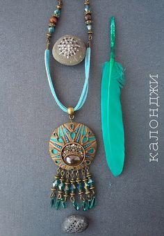 ethnic jewelery polymerclay