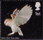Birds of Prey 1st Stamp (2003) Barn Owl landing