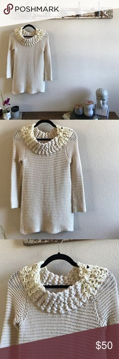 Sir Sir by Correll Correll Sweater Unicorn anthro piece, hand woven Knit Sweater. It's almost impossible to find one in good condition and mine has no stains, holes and the top hand woven portion has been meticulously minded so it's in really good shape. Firm on price unless bundled and then it's 20% off any 2 😍. Anthropologie Sweaters