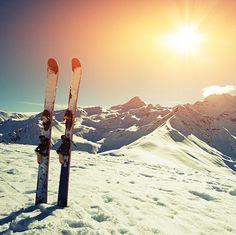 Een foto van wintersport omdat dit 1 van mijn favoriete sporten is