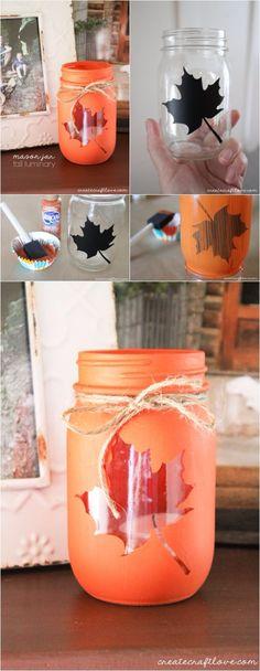 Mason Jar Fall Luminary | DIY Fun Tips