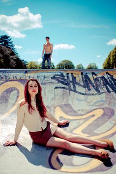fashion skate park photo shoot