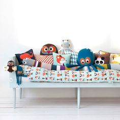 The Owl Kids Animal Cushions was designed in-house at ferm LIVING.Danish home-living brand ferm LIVING produces a large range of quality domestic furnishings th Owl Cushion, Fox Pillow, Pillow Fight, Animal Cushions, Deco Kids, Bed Bumpers, Nursery Modern, Modern Nurseries, Kid Spaces