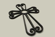 Faux Wrought Iron Cross by BMDWoodworks on Etsy Wrought Iron, Home Interior Design, Etsy, Home Interiors, Home Decor
