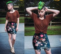 Get this look: http://lb.nu/look/8816447 More looks by Carolyn W: http://lb.nu/carolynm Items in this look: Forever 21 Striped, Black Milk Clothing Floral, Queork Croc Cork