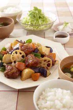 鶏と野菜の黒酢あんの画像