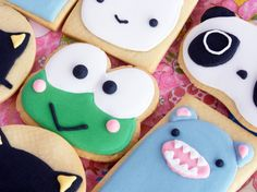 Arrange your photos into a beautiful collage. Kawaii Cookies, Kitty Cafe, Megan Ward, Beautiful Collage, Iced Cookies, Sanrio Characters, Cafe Food, Japanese Food, Just Desserts