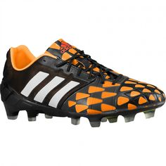 adidas Nitrocharge 1.0 FG Soccer Cleats - Black/Core White/Solar Gold   Available now at scoreboardsports.com