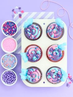 Cotton Candy Swiss Meringue frosting with beautiful design inspiration!