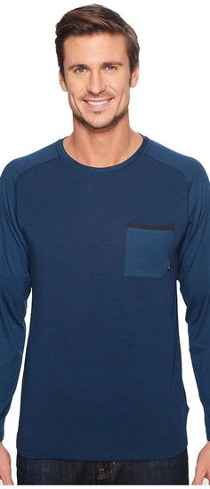 Mountain Hardwear Coolhiker AC Long Sleeve Tee (Hardwear Navy) Men's T Shirt - Mountain Hardwear, Coolhiker AC Long Sleeve Tee, 1707951-425, Apparel Top Shirt, T Shirt, Top, Apparel, Clothes Clothing, Gift, - Street Fashion And Style Ideas