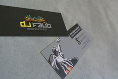 Business cards for DJ Faub Business Cards, Dj, Graphic Design, Logos, Visit Cards, Carte De Visite, Logo, Visual Communication
