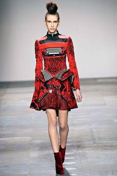 "Mary Katranzou Fall 2012 Runway ""Typewriter Dress"""