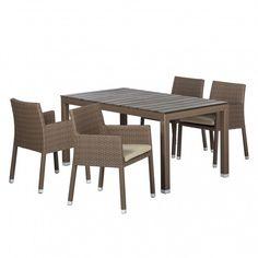 Sitzgruppe Facil (5-teilig) I - Polyrattan Cappuccino | Home24 ähnliche tolle Projekte und Ideen wie im Bild vorgestellt findest du auch in unserem Magazin . Wir freuen uns auf deinen Besuch. Liebe Grüß