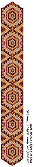 Две схемы браслетов - мозаичное плетение