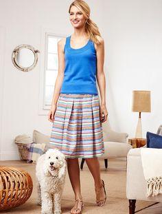Talbots - Island-Stripe Pleated Skirt | Skirts | Misses
