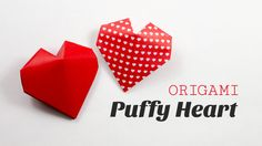 Learn how to fold a cute 3D origami heart for Valentine's Day!  This origami heart opens up like a clam shell too  ⬇more info ⬇ Such a cute origami heart, ...