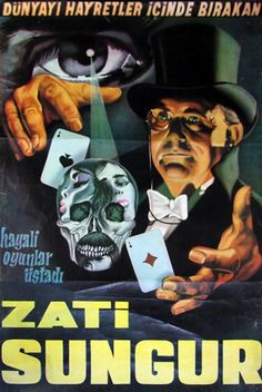 Vintage advertising poster   magicians