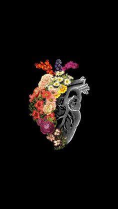 'Flower Heart Spring' Tapestry by tobiasfonseca Cute Wallpapers, Wallpaper Backgrounds, Heart Wallpaper, Wallpaper Lockscreen, Iphone Wallpapers, Medical Art, Anatomy Art, Psychedelic Art, Heart Art